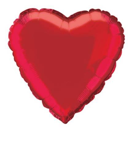 Bilde av Ballonger Hjerte Folie  Rød 46cm