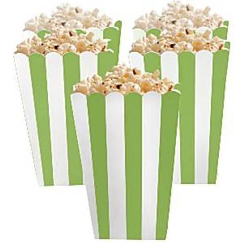 Bilde av Popcorn Beger Kiwi Grønne og Hvite Striper 13cm 5stk