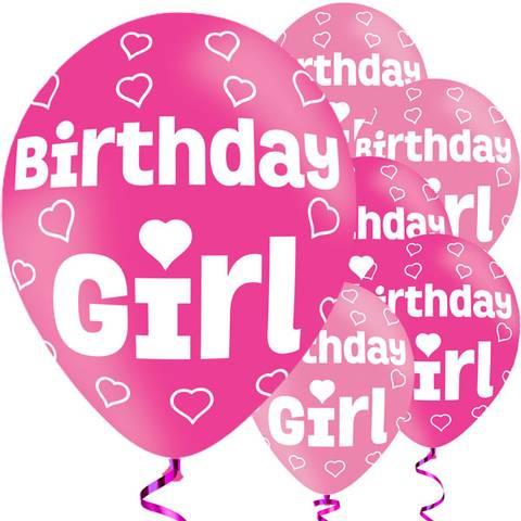 Bilde av Birthday Girl Ballonger Latex 27cm 6stk