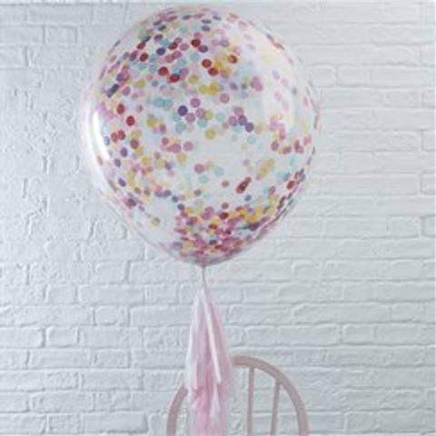 Bilde av Konfetti Ballonger Pick & Mix  Stor Farget 90cm 3stk