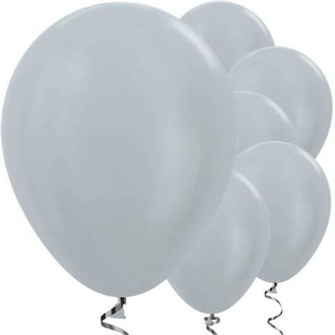 Bilde av Ballonger Satin Sølv Lateks 30cm 25stk