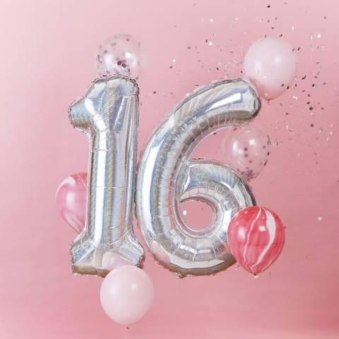 Bilde av Tallballong Sølv Folie 16 år 92cm