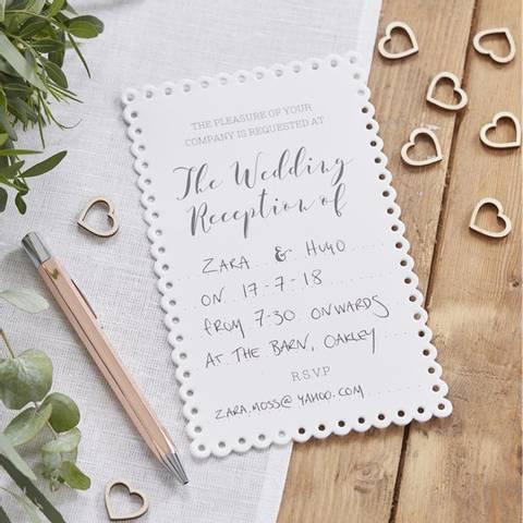 Bilde av Invitasjoner Bryllup10stk