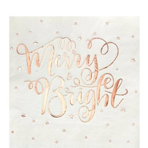Bilde av Merry & Bright Servietter Lunsj 33cm 20stk