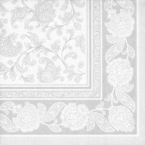 Bilde av Servietter Royal Ornament Hvit 20stk